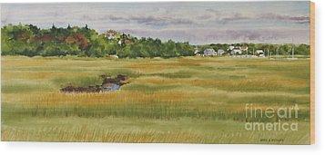Sesuit Harbor Marshside Wood Print
