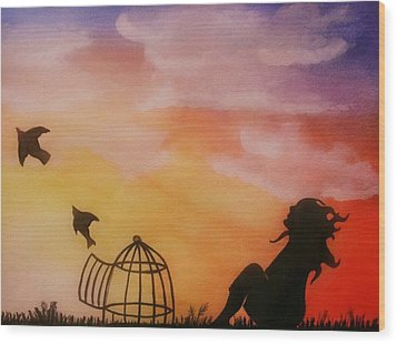 Set Free Wood Print by Kiara Reynolds