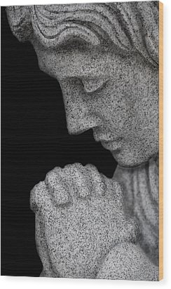 Set In Stone Wood Print by Mary Burr