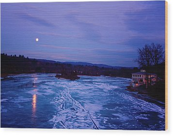 Setting Moon Brattleboro Wood Print