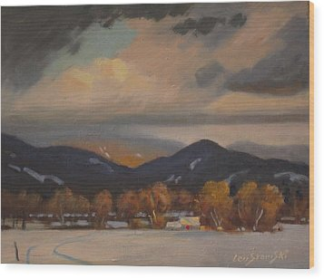 Settled In The Hoosac Valley Wood Print by Len Stomski