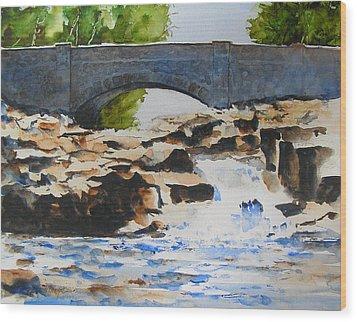 Seven Bridges Road Wood Print
