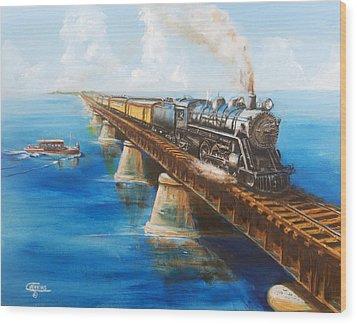 Seven Mile Bridge Wood Print by Christopher Jenkins