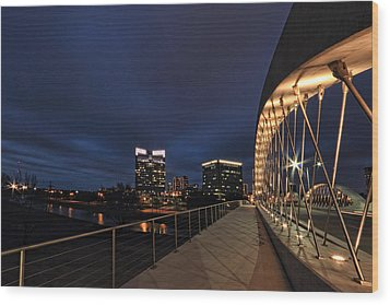 Seventh Avenue Bridge Fort Worth Wood Print