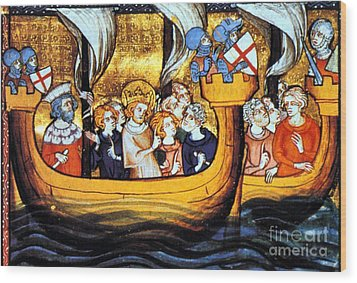 Seventh Crusade 13th Century Wood Print by Photo Researchers