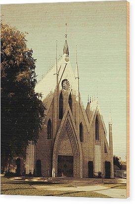 Seventh Day Church Wood Print by Glenn McCarthy Art and Photography