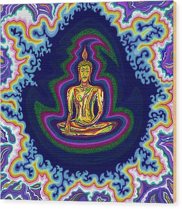 Seventh Heaven Buddha Wood Print