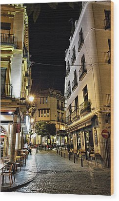 Seville Nights Wood Print by Pedro Fernandez