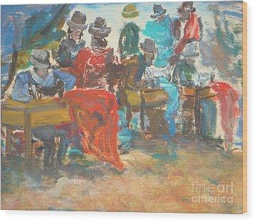 Sewing Market 'equador' Wood Print