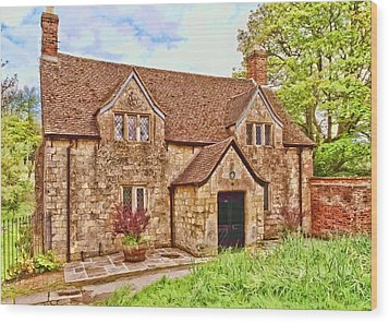 Wood Print featuring the photograph Sextons Cottage Devizes by Paul Gulliver