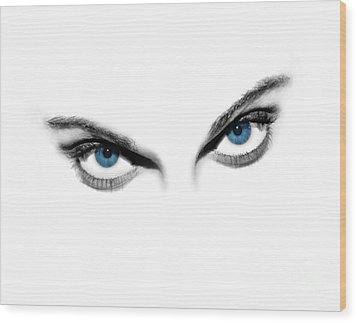 Sexy Blue Eyes  Wood Print by Jt PhotoDesign