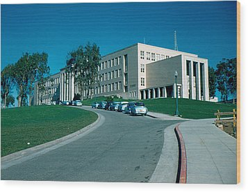 Sf City College 1956 Wood Print by Cumberland Warden
