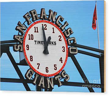 San Francisco Giants Baseball Time Sign Wood Print