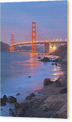 Sf Icon Wood Print by Jonathan Nguyen