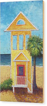 Wood Print featuring the painting SGI by Pam Talley