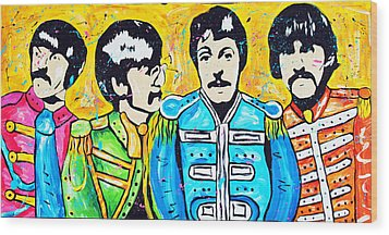 Sgt. Pepper's Lonely Hearts Club Wood Print by Tara Richelle