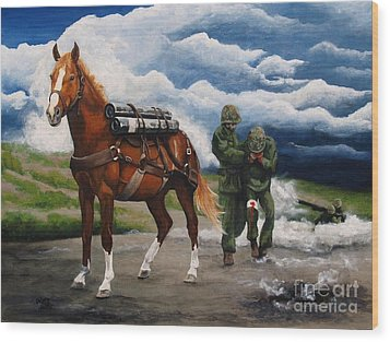 Sgt. Reckless Wood Print