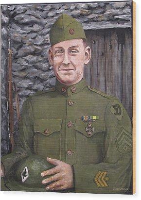 Sgt Sam Avery Wood Print by Jack Skinner
