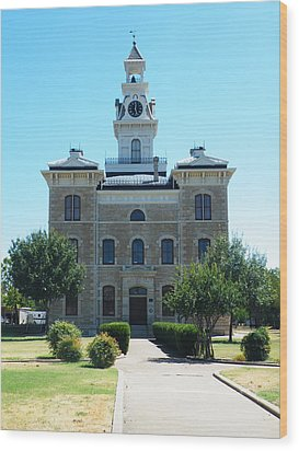 Shackelford County Courthouse Wood Print