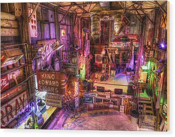 Shackup Inn Stage Wood Print
