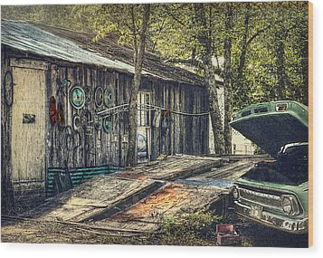 Shade Tree Mechanic Wood Print