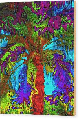 Shade Trees On Venus Wood Print