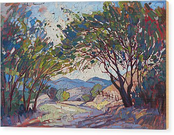 Shaded Path Wood Print by Erin Hanson