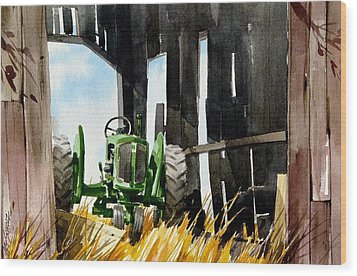 Shaded Shed Wood Print by Art Scholz