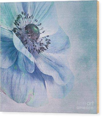 Shades Of Blue Wood Print by Priska Wettstein