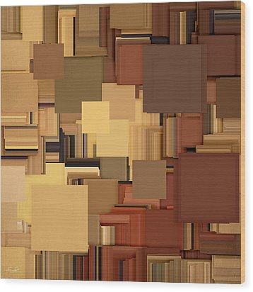 Shades Of Brown Wood Print by Lourry Legarde