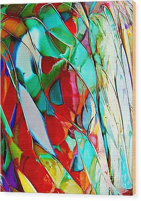 Shades Of Excitement Wood Print by Marcia Lee Jones