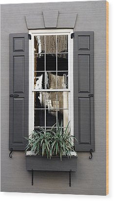 Shades Of Grey In Charleston Wood Print by Skip Willits
