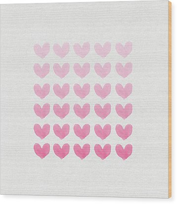 Shades Of Pink Wood Print by Aged Pixel