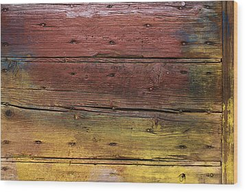 Wood Print featuring the digital art Shades Of Red And Yellow by Ron Harpham