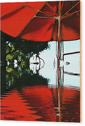 Shades Of Red Wood Print by Robert Smith