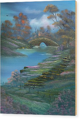 Shades Of The Orient. Wood Print by Cynthia Adams