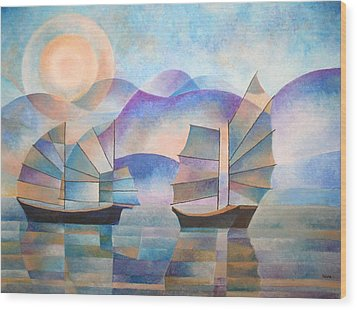 Shades Of Tranquility Wood Print by Tracey Harrington-Simpson