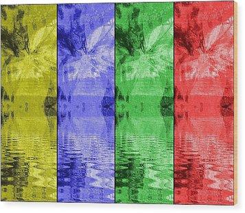Shades Of Waves Wood Print by Kelly McManus