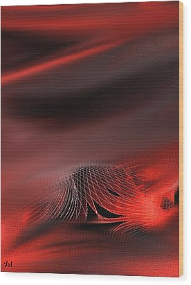 Shades Series Fire Red Wood Print