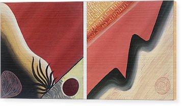 Shades Wood Print by Yafit Seruya