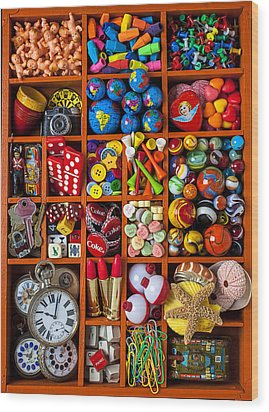 Shadow Box Collection Wood Print by Garry Gay