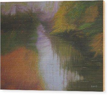 Shadow Creek Wood Print
