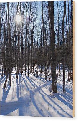 Shadow Dance Wood Print by Jim Rossol