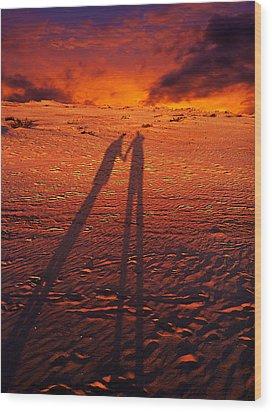 Shadow  Wood Print by Gray  Artus