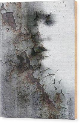 Shadow On A Wall Wood Print by Gun Legler