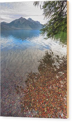 Wood Print featuring the photograph Shadow Pebbles by David Andersen