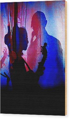 Shadow Play Wood Print by Mike Flynn