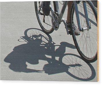 Shadow Rider Wood Print by Susan OBrien