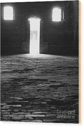 Shadow Windows  Wood Print by KayLee Byrtus