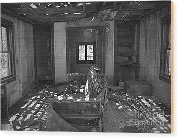 Shadowed Rooms Wood Print by Terry Rowe
